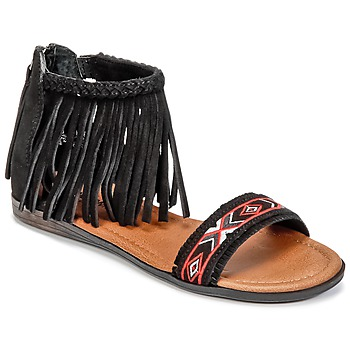Schoenen Dames Sandalen / Open schoenen Minnetonka MOROCCO Zwart
