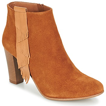 Schoenen Dames Enkellaarzen Betty London GAMI  CAMEL