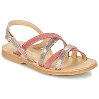Schoenen Meisjes Sandalen / Open schoenen Citrouille et Compagnie GENTOU Roze / Zilver