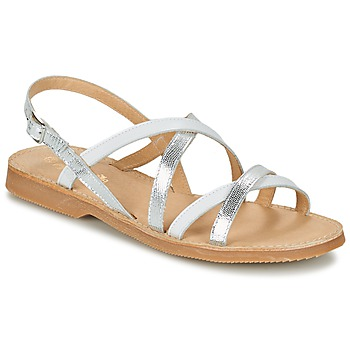 Schoenen Meisjes Sandalen / Open schoenen Citrouille et Compagnie GENTOU Wit / Zilver