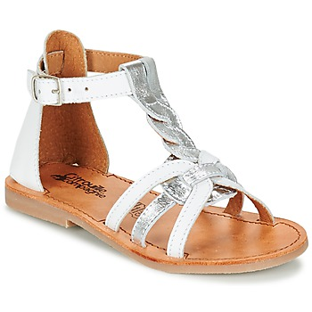 Schoenen Meisjes Sandalen / Open schoenen Citrouille et Compagnie GITANOLO Wit / Zilver