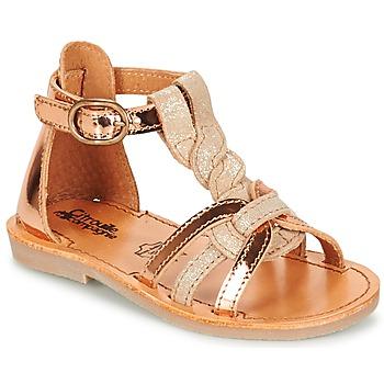 Schoenen Meisjes Sandalen / Open schoenen Citrouille et Compagnie GITANOLO Beige /  cuivré