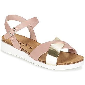 Schoenen Dames Sandalen / Open schoenen Casual Attitude GIFA Roze / Goud