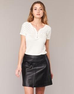 Textiel Dames T-shirts korte mouwen Naf Naf OPARI Ecru