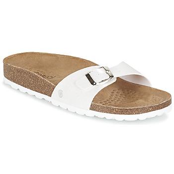 Schoenen Dames Leren slippers Casual Attitude TERTROBAL Wit