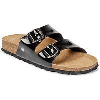 Schoenen Dames Leren slippers Casual Attitude GERRO Zwart