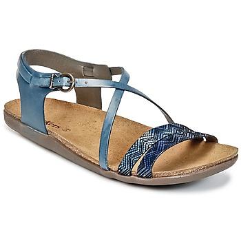 Schoenen Dames Sandalen / Open schoenen Kickers ATOMIUM Blauw / Imprimé