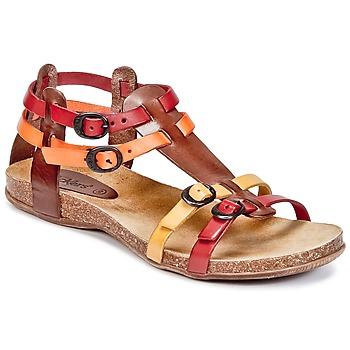 Schoenen Dames Sandalen / Open schoenen Kickers ANA Brown / Rood / Orange