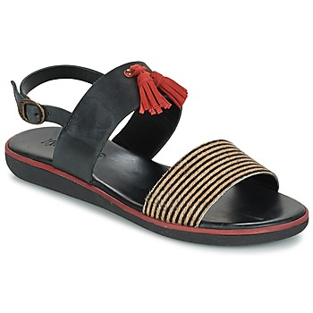 Schoenen Dames Sandalen / Open schoenen Kickers HYRO Zwart / Rood