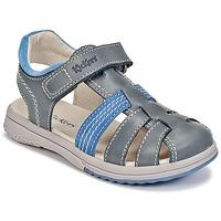 Schoenen Jongens Sandalen / Open schoenen Kickers PLATINIUM Blauw / Donker / Blauw