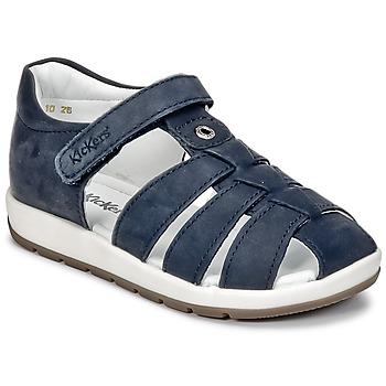 Schoenen Jongens Sandalen / Open schoenen Kickers SOLAZ Marine