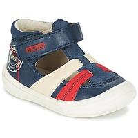 Schoenen Jongens Sandalen / Open schoenen Kickers ZOHAN Marine / Rood
