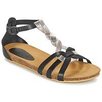Schoenen Meisjes Sandalen / Open schoenen Kickers BOMTARDES Zilver / Zwart
