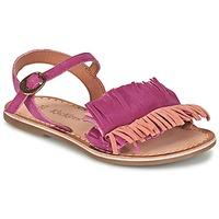 Schoenen Meisjes Sandalen / Open schoenen Kickers DIXFROUFROU KID  FUCHSIA / CORAIL