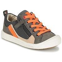 Schoenen Jongens Lage sneakers Kickers ZIGZAGUER Grijs / Orange