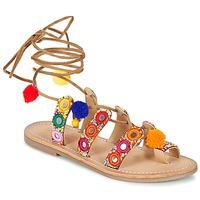 Schoenen Dames Sandalen / Open schoenen Les Tropéziennes par M Belarbi OREA Brown / Multikleuren