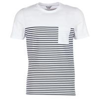 Textiel Heren T-shirts korte mouwen Jack & Jones APRIL CORE Wit / Marine