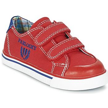 Schoenen Jongens Lage sneakers Pablosky LIVABI Rood