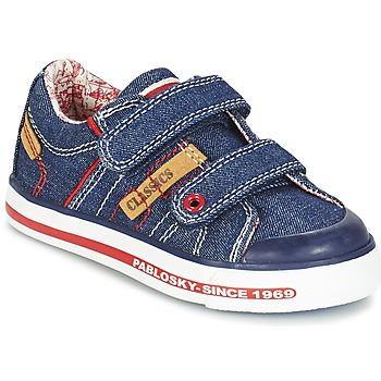 Schoenen Jongens Lage sneakers Pablosky ERIVO Blauw