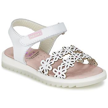 Schoenen Meisjes Sandalen / Open schoenen Pablosky COULOIME Wit
