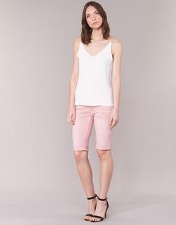 Textiel Dames Korte broeken / Bermuda's Freeman T.Porter BELIXA NEW MAGIC COLOR Roze