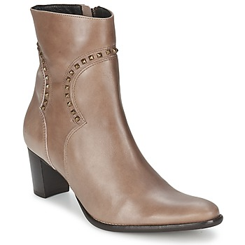 Schoenen Dames Enkellaarzen Betty London GRELOT TAUPE