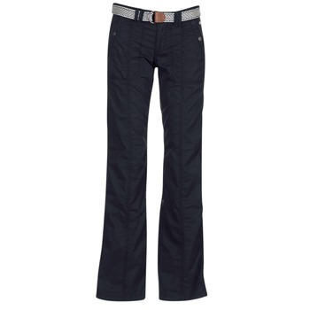 Textiel Dames 5 zakken broeken Esprit TURN UP Zwart