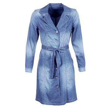 Textiel Dames Trenchcoats Cream DENIM TRENCHCOAT DENIM