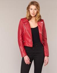 Textiel Dames Leren jas / kunstleren jas Oakwood 62326 Rood