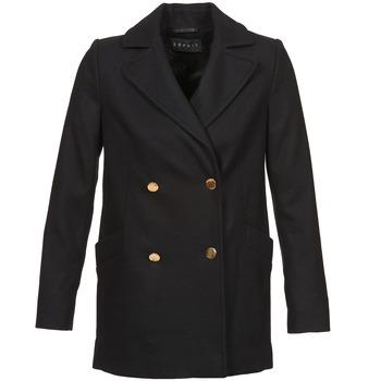 Textiel Dames Mantel jassen Esprit WATTS Zwart