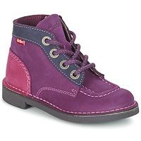 Schoenen Meisjes Laarzen Kickers KICK COLZ Violet / Marine / Roze