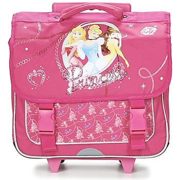 Tassen Meisjes Tassen / Schooltassen op wieltjes Disney PRINCESSES CARTABLE TROLLEY 38CM Roze