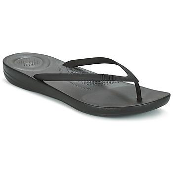 Schoenen Dames Slippers FitFlop IQUSHION ERGONOMIC FLIP-FLOPS Zwart