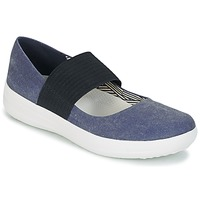 Schoenen Dames Ballerina's FitFlop FSPORTY MARY JANE CANVAS Midnight / Navy