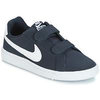 Schoenen Kinderen Lage sneakers Nike COURT ROYALE PRESCHOOL Blauw / Wit