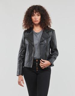 Textiel Dames Leren jas / kunstleren jas Betty London GADITE Zwart