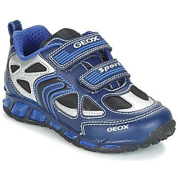 Schoenen Jongens Lage sneakers Geox J SHUTTLE B. A Marine / Blauw