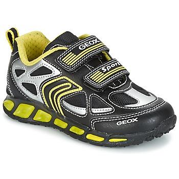 Schoenen Jongens Lage sneakers Geox J SHUTTLE B. A Zwart / Geel