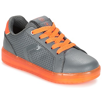 Schoenen Jongens Lage sneakers Geox J KOMMODOR B.B Grijs / Orange