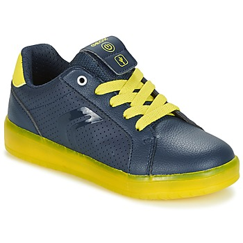 Schoenen Jongens Lage sneakers Geox J KOMMODOR B.B Marine / Geel