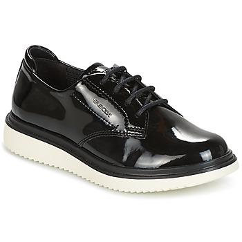 Schoenen Meisjes Derby Geox J THYMAR G. B Zwart