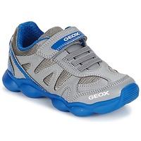 Schoenen Jongens Lage sneakers Geox J MUNFREY B. A Grijs / Blauw