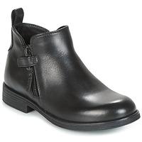 Schoenen Meisjes Laarzen Geox J AGATA C Zwart