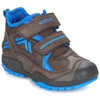 Schoenen Jongens Lage sneakers Geox J N.SAVAGE B.B Brown / Blauw