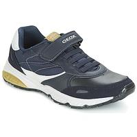 Schoenen Jongens Lage sneakers Geox J BERNIE A Marine / Groen