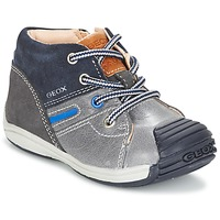Schoenen Jongens Hoge sneakers Geox B TOLEDO B. A Grijs / Marine