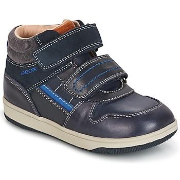 Schoenen Jongens Hoge sneakers Geox B NEW FLICK B. A Marine / Blauw