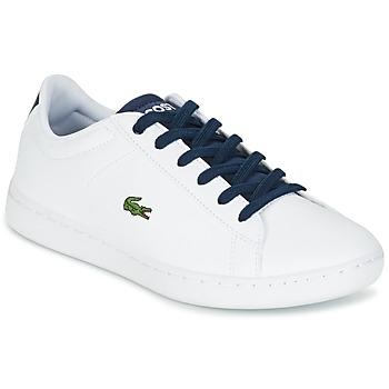Schoenen Kinderen Lage sneakers Lacoste CARNABY EVO Wit / Marine