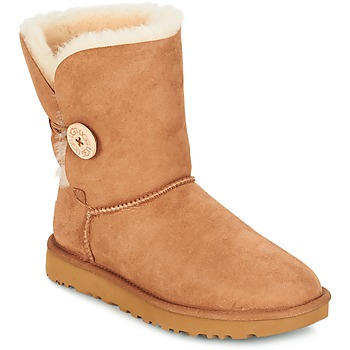 Schoenen Dames Laarzen UGG BAILEY BUTTON II Brown