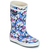 Schoenen Meisjes Regenlaarzen Aigle LOLLY POP GLITTERY Blauw